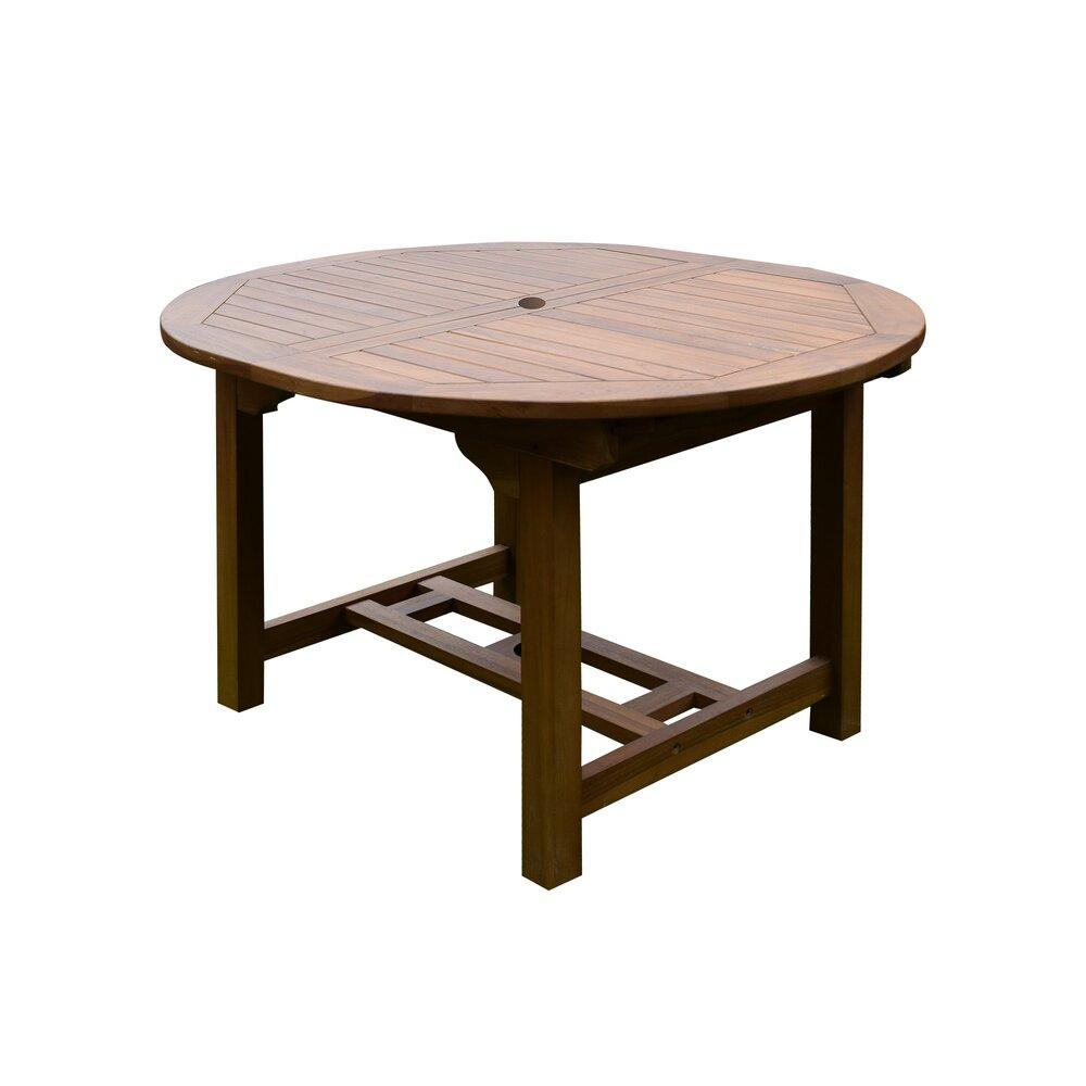Plein air - jardin - Table de jardin en teck 120/170x100x75cm photo 1