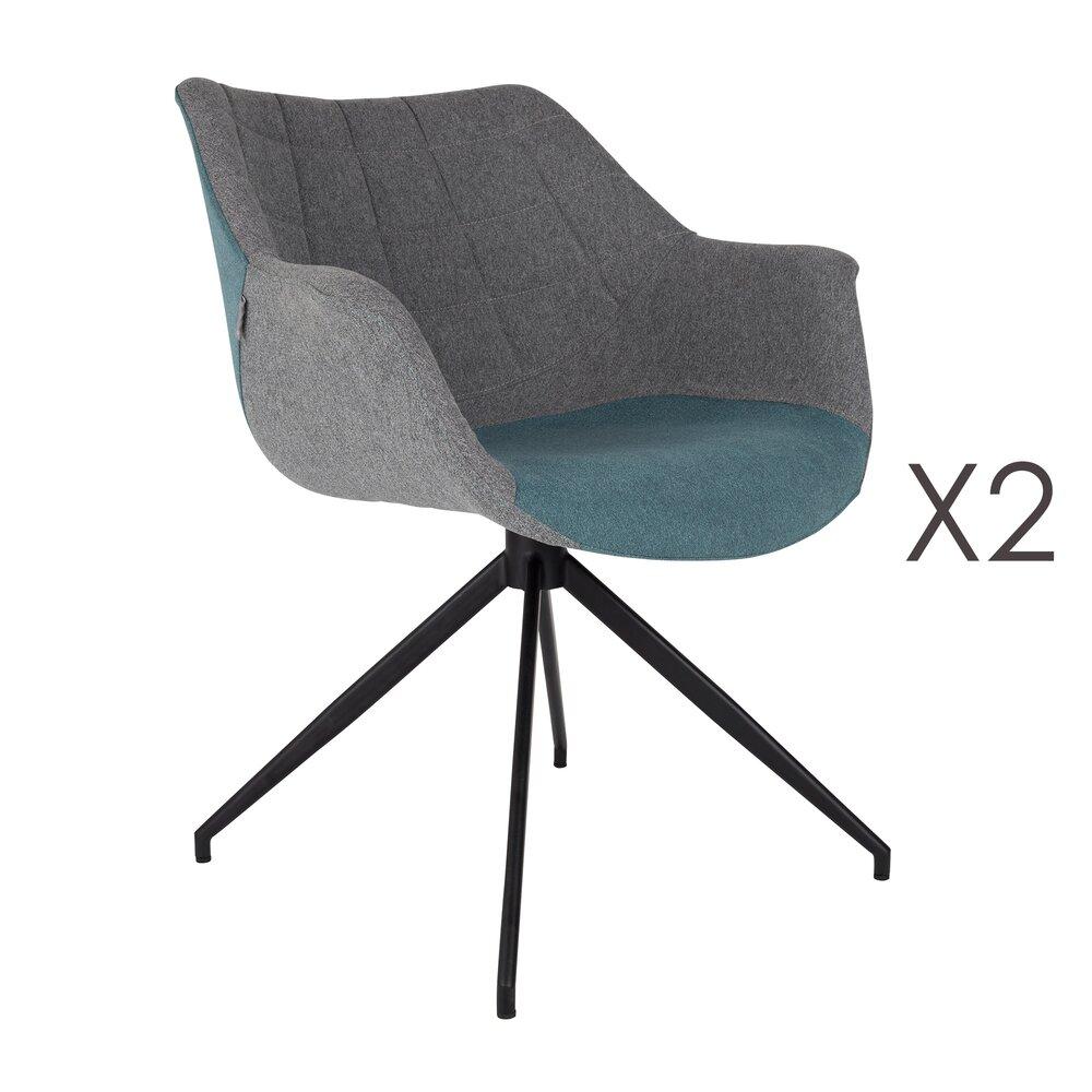 Fauteuil - Lot de 2 fauteuils - bleu photo 1