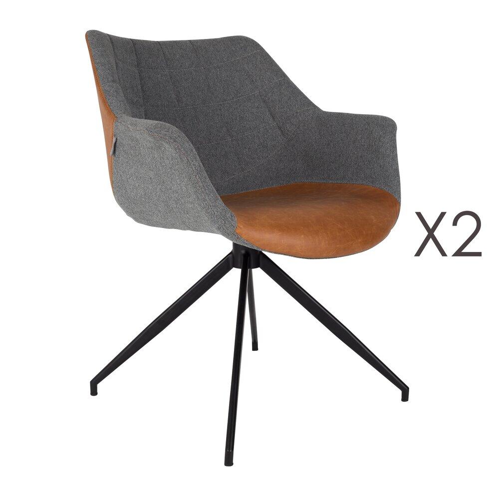 Fauteuil - Lot de 2 fauteuils - marron photo 1