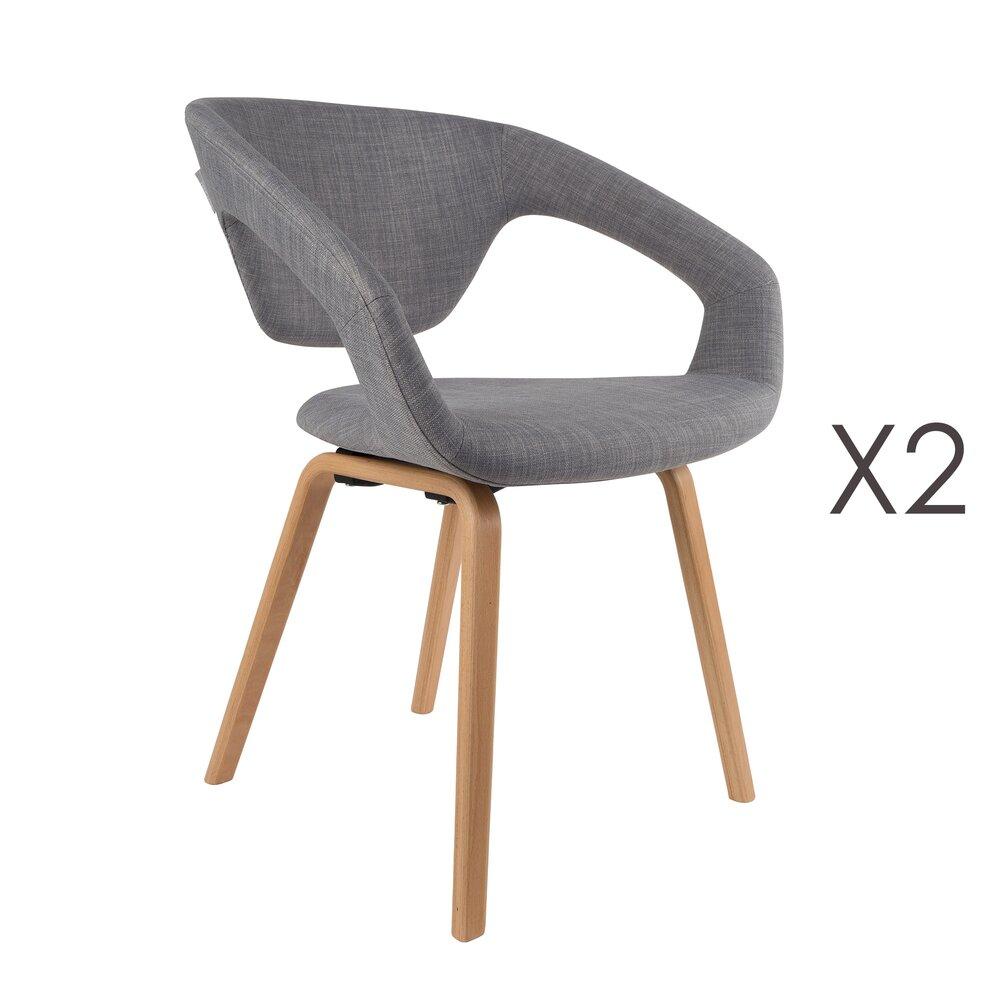 Fauteuil - Lot de 2 fauteuils vintage - gris photo 1