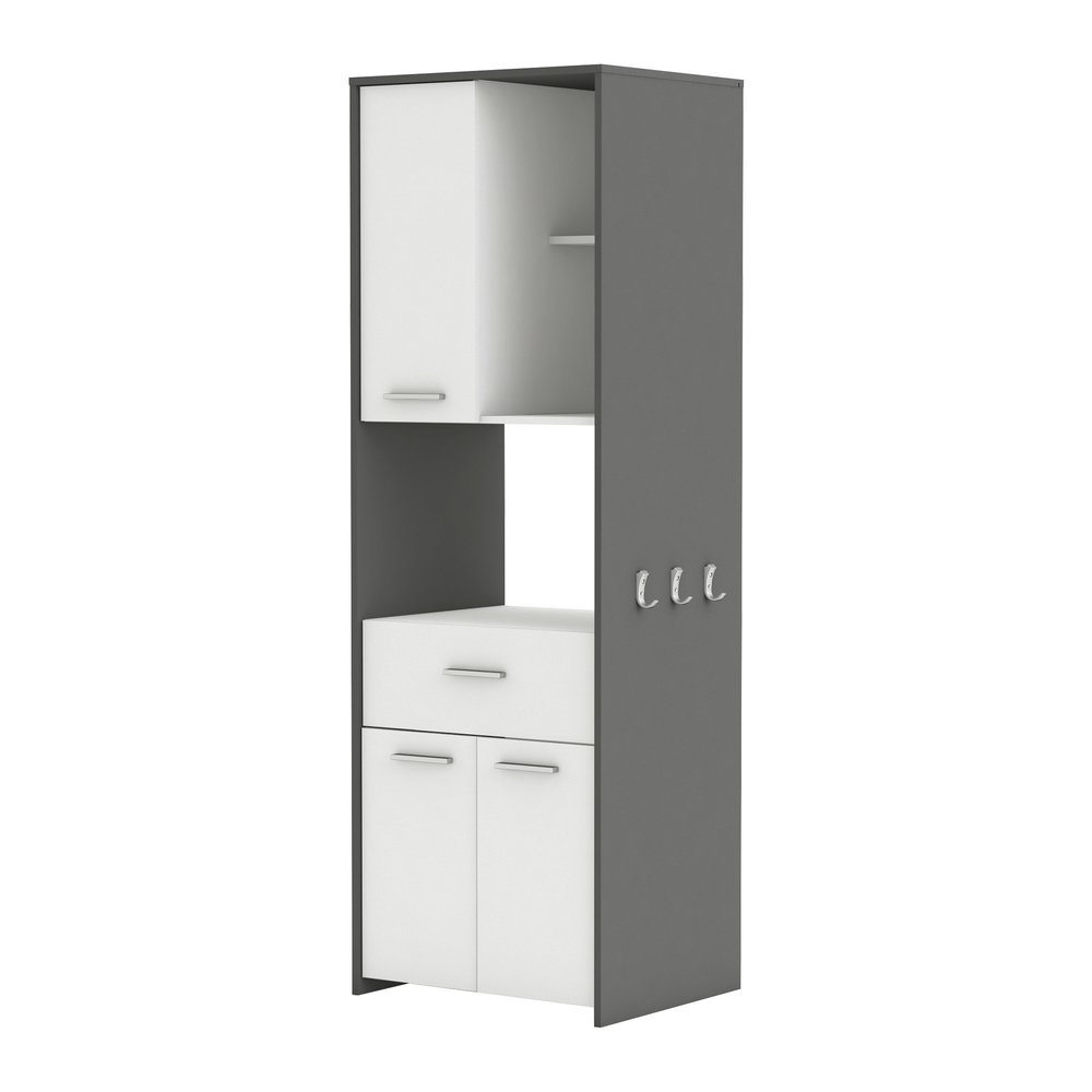 Meuble Micro Onde Blanc Gris Graphite Maison Et Styles