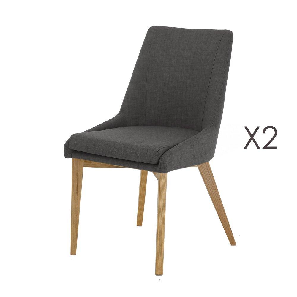 Chaise - Lot de 2 Chaises gris foncé - OLET photo 1