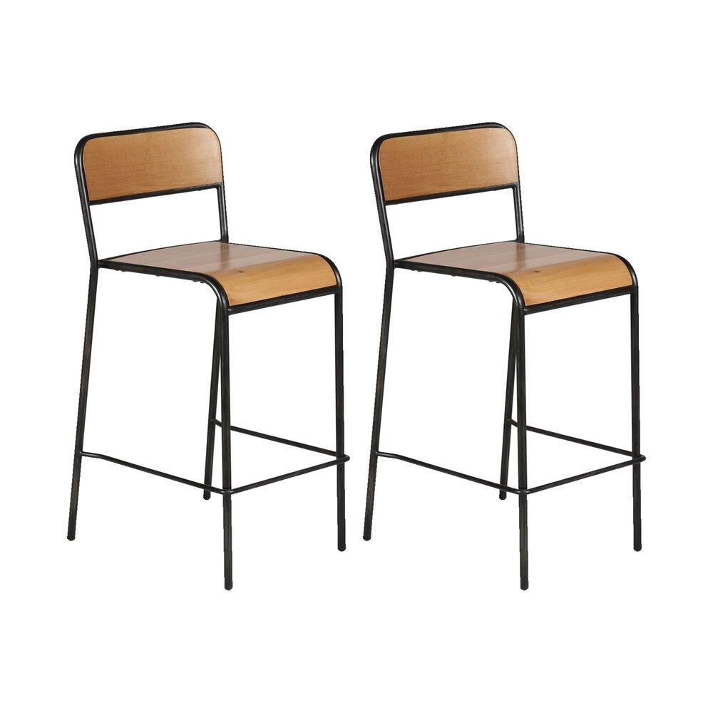 Hauteur Plan De Travail lot de 2 chaises hauteur plan de travail - locna | maison et