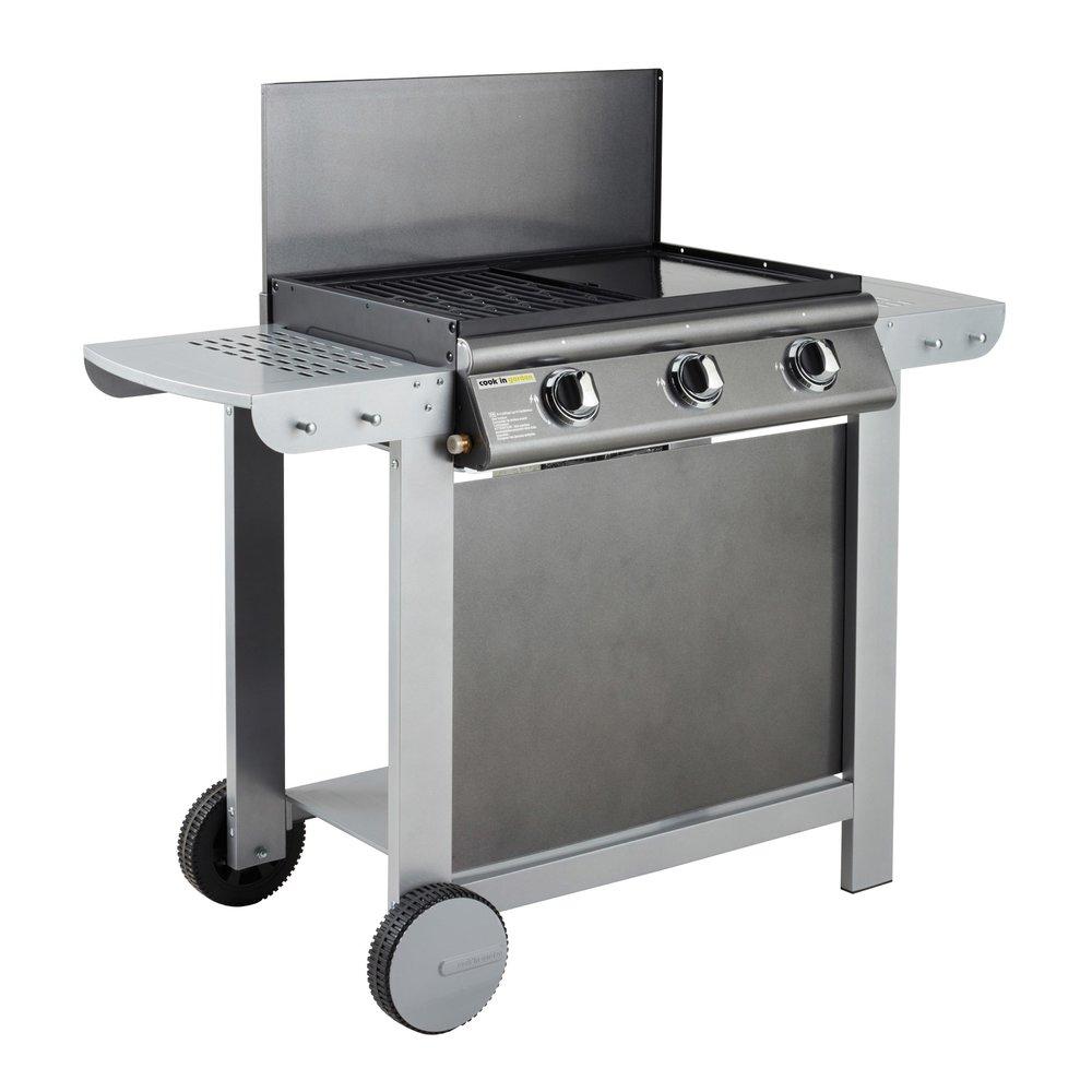 Barbecue - Barbecue au gaz 3 brûleurs et plancha - PUERTA LUNA photo 1