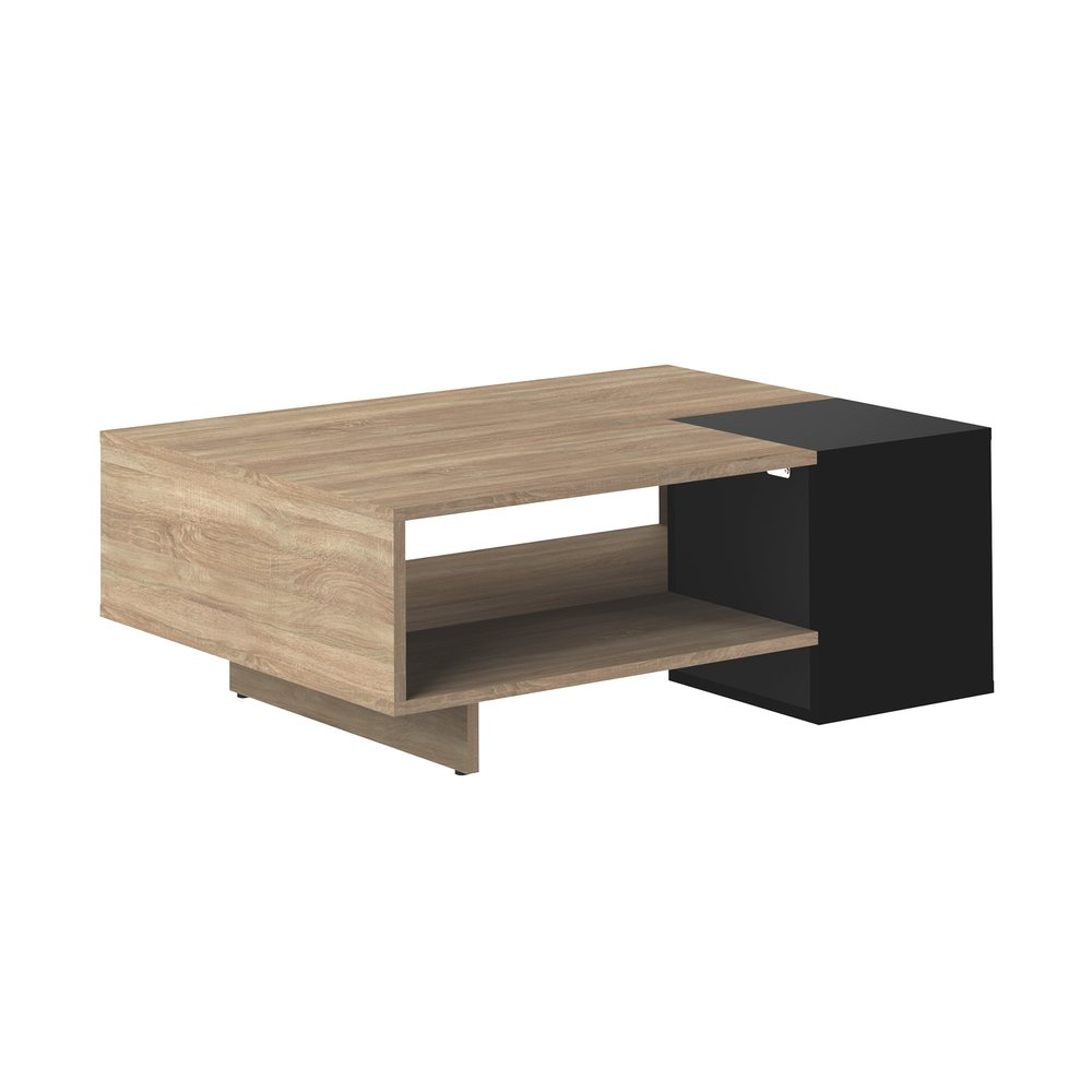 Table basse - Table basse  en bois naturel et noir - AUDE photo 1
