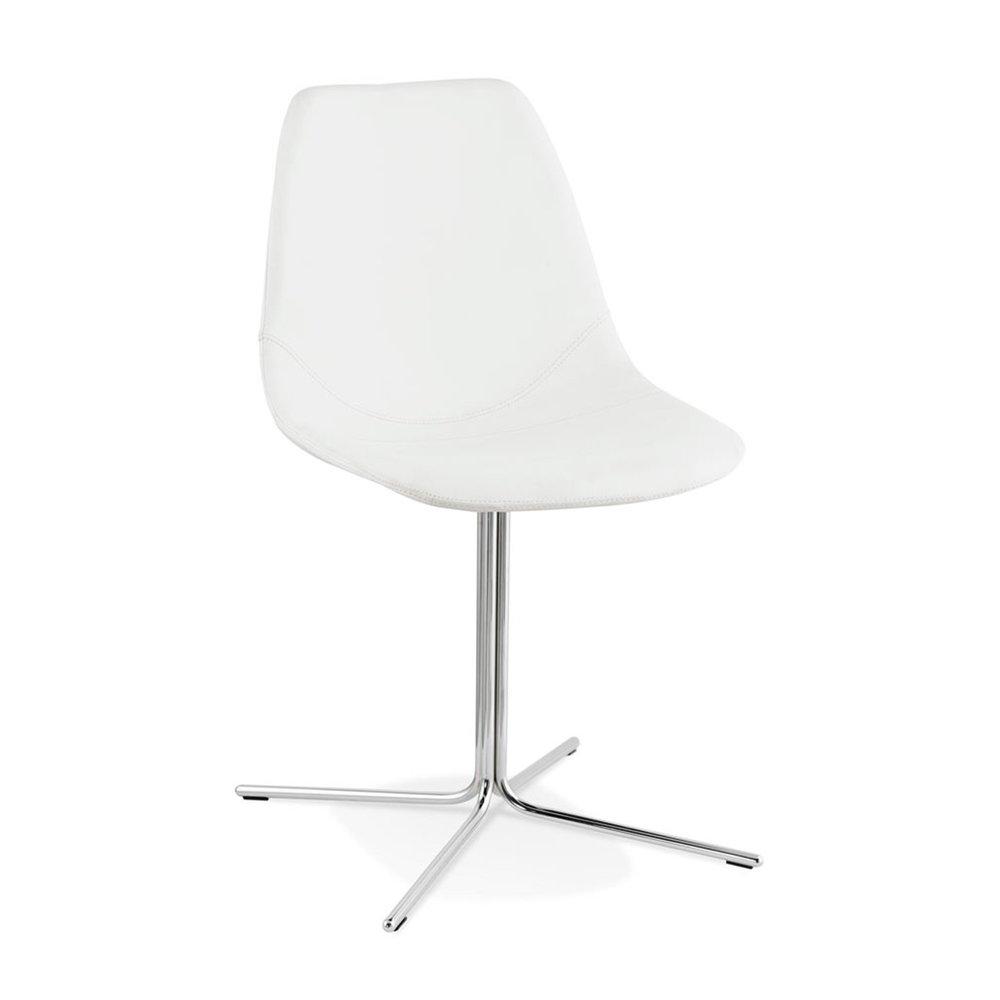 Chaise - Chaise avec coque blanc chromé - ANDREW photo 1