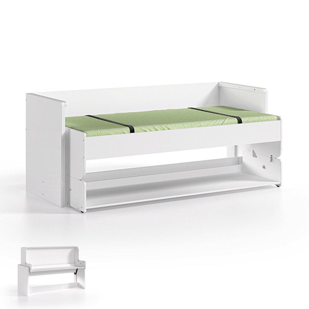 Chambre enfant - Lit bureau modulable 90x200 cm blanc photo 1