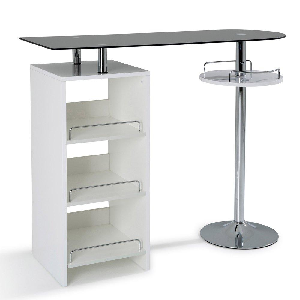 Table Haute Avec Rangement table bar avec rangement blanc   maison et styles
