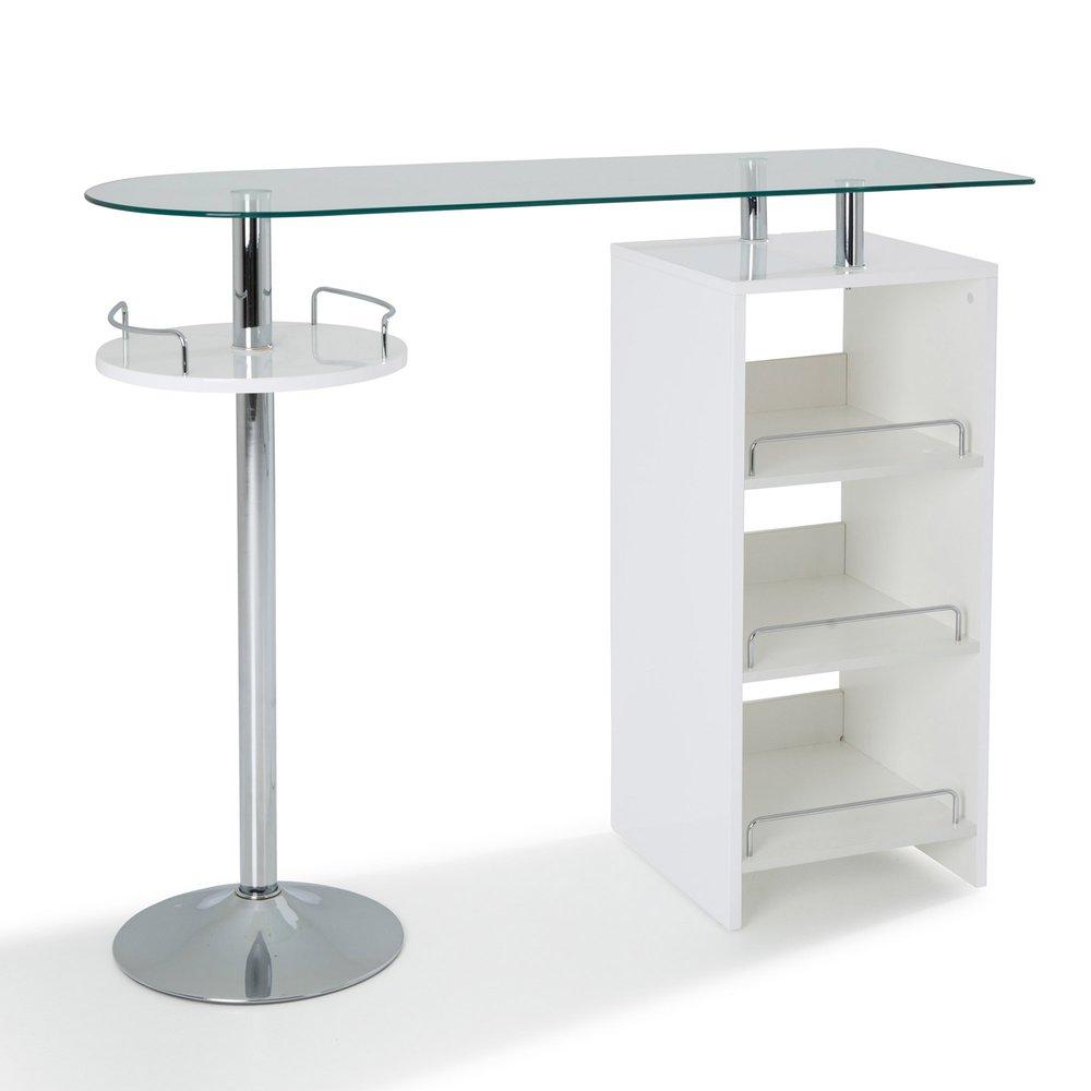 Table Bar Avec Rangement Coloris Blanc Maison Et Styles