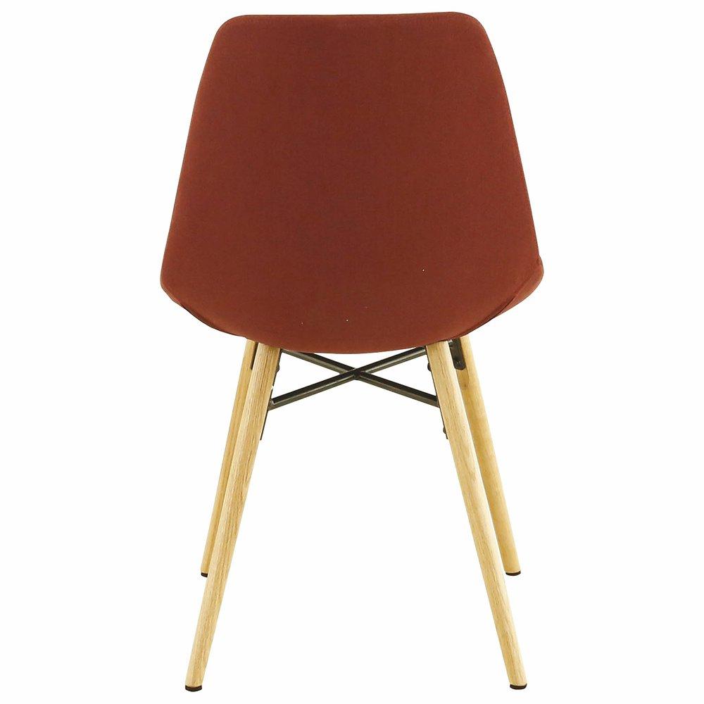 Lot de 2 chaises de repas rouge foncé MYA