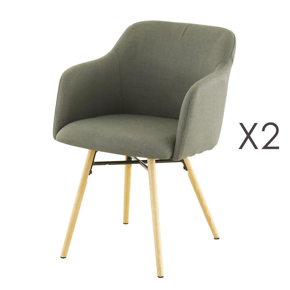 Chaise - Lot de 2 fauteuils de repas anthracite  -  MYA photo 1