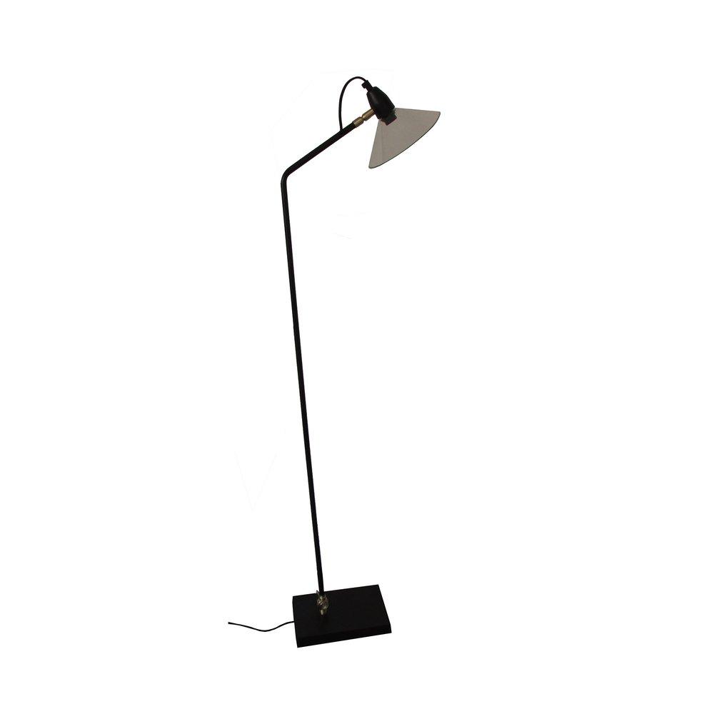 Luminaire - Lampadaire  en métal noir et verre photo 1
