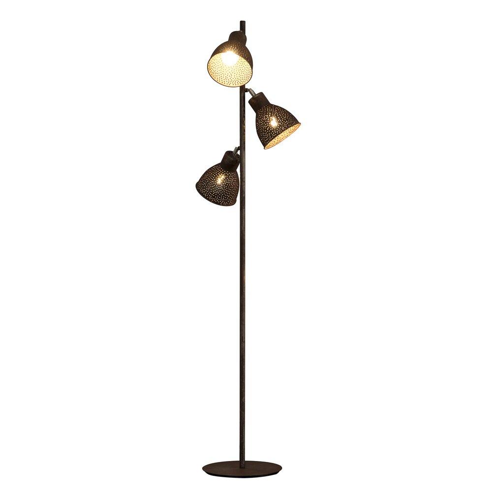 Luminaire - Lampadaire 3 lampes métal brun photo 1