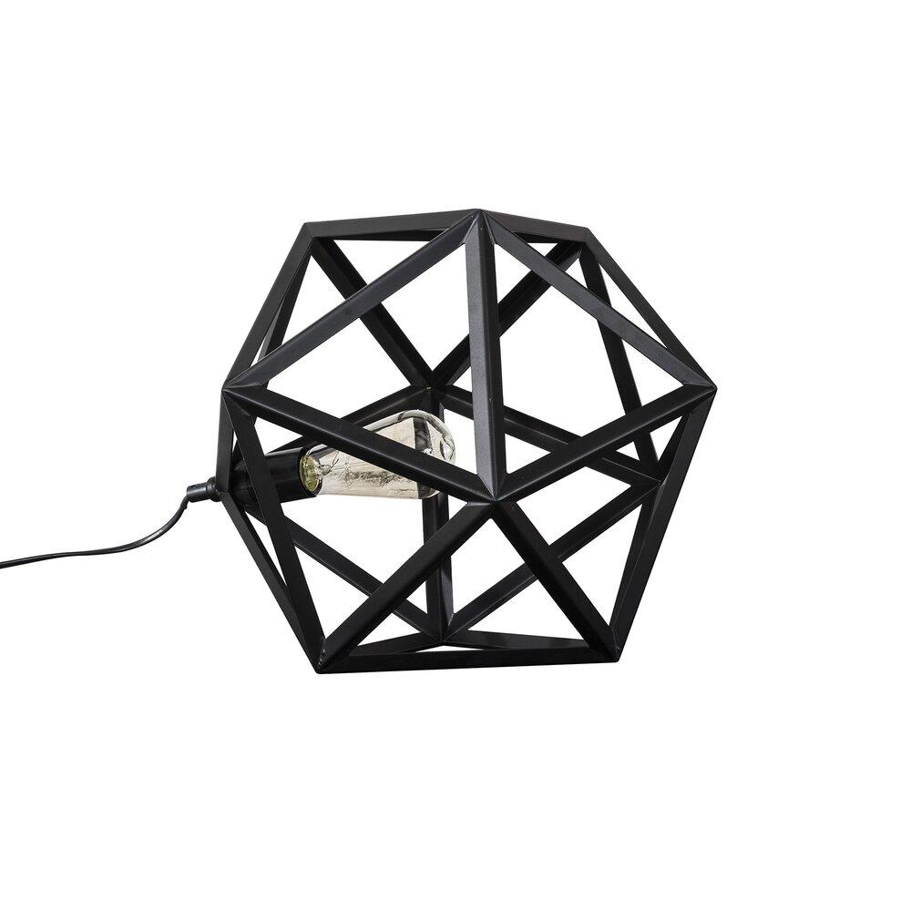Luminaire - Lampe de table en métal noir - TRIANGLE photo 1