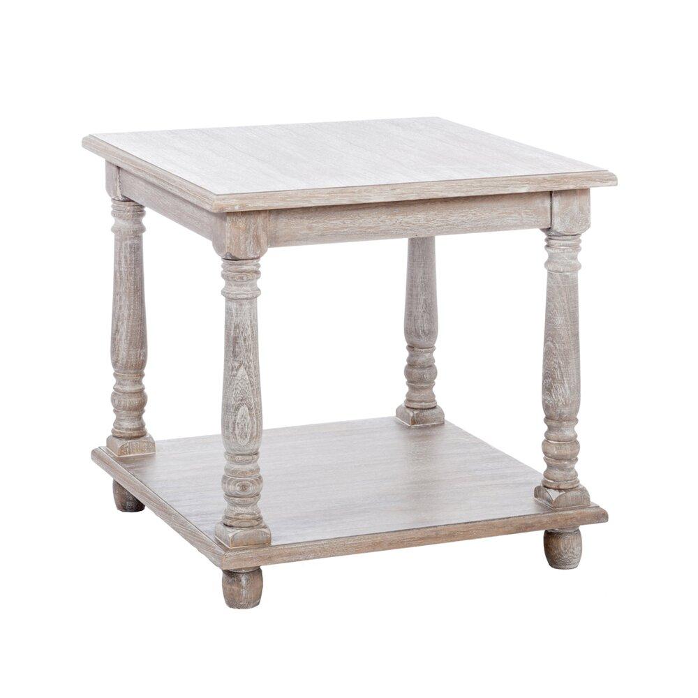 Table de salon 12x12x12cm en bois cérusé