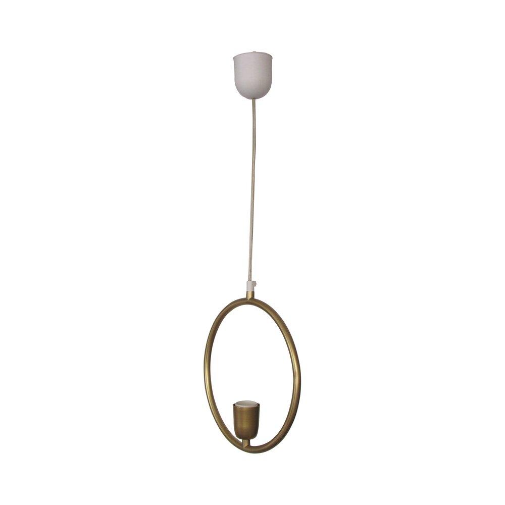 Luminaire - Suspension ronde en laiton photo 1