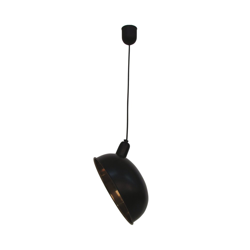 Luminaire - Suspension en métal noir diamètre 36cm photo 1