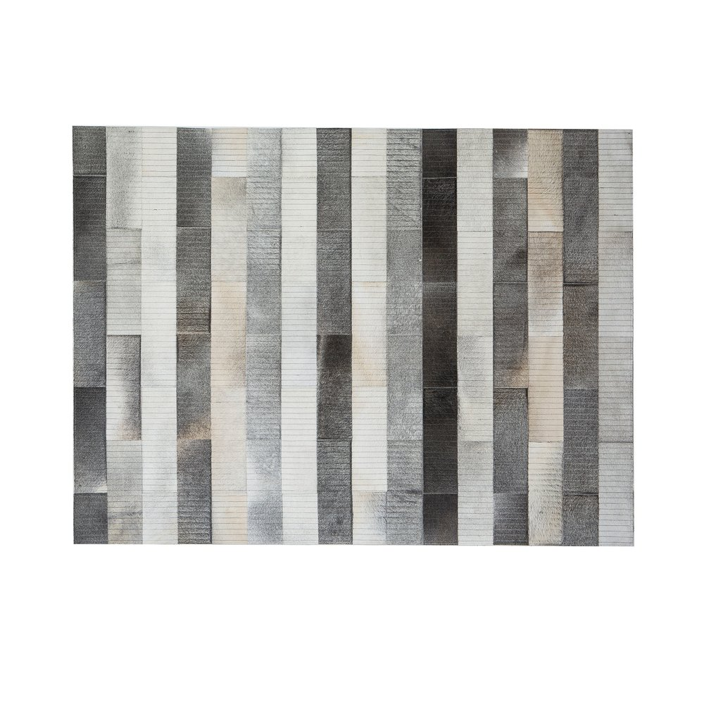 Tapis - Tapis 180x240 cm en cuir tons gris photo 1