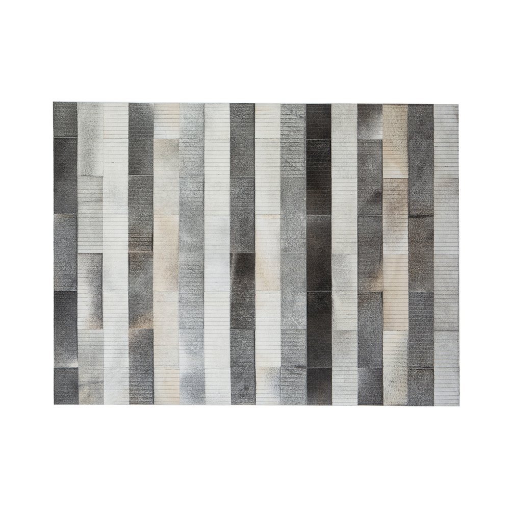 Tapis - Tapis 200x300 cm en cuir tons gris photo 1