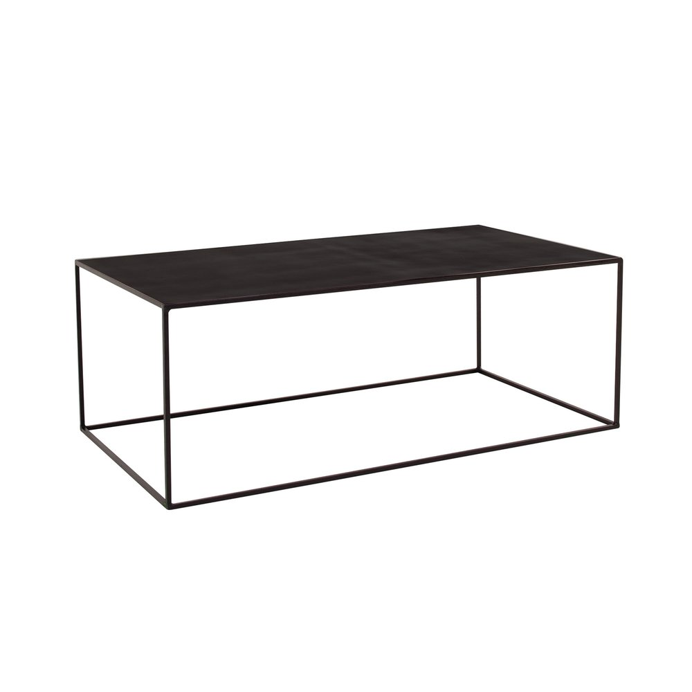 Table basse - Table basse 110x60x40cm en métal noir - CHARLTON photo 1