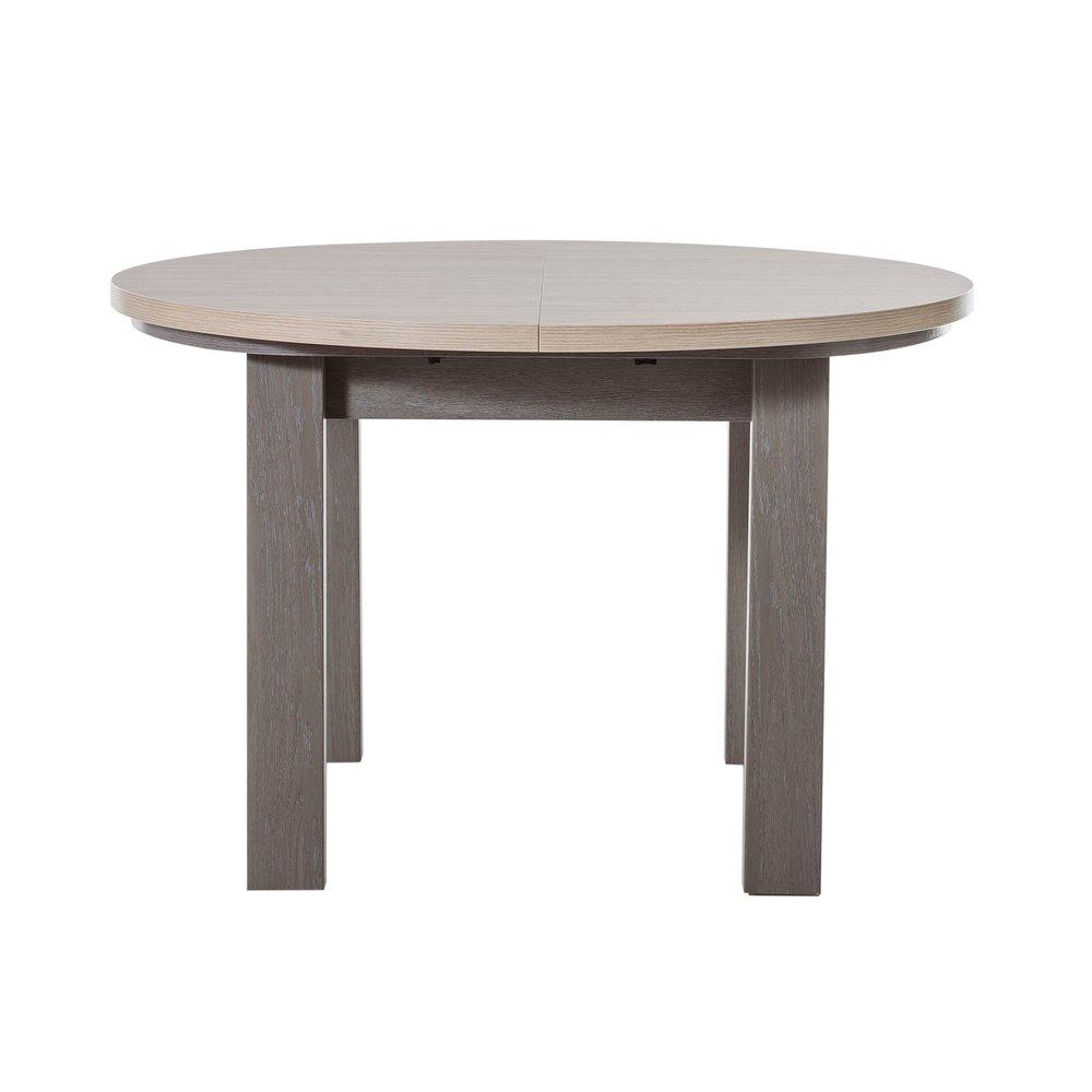 Table - Table ronde + 1 allonge naturel - CASSANDRE photo 1