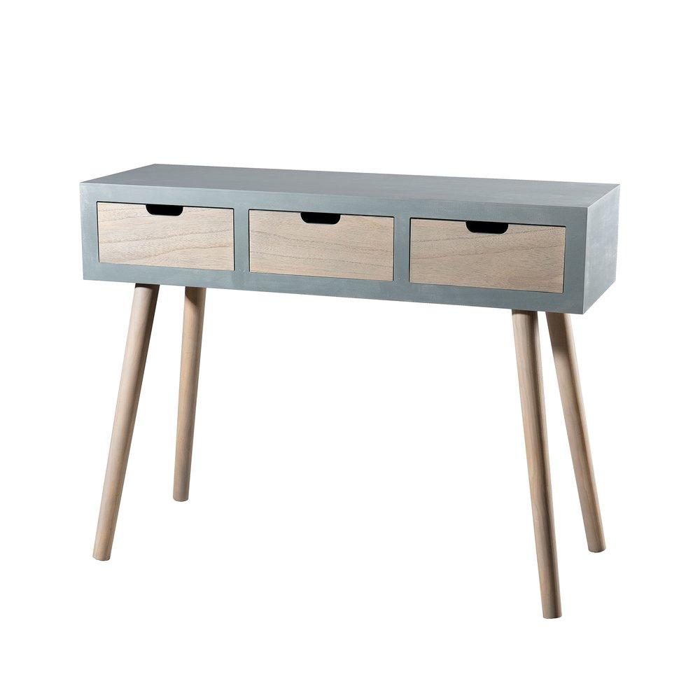 Table basse - Table basse 1 niche et 1 tiroir gris - ORIGIN photo 1
