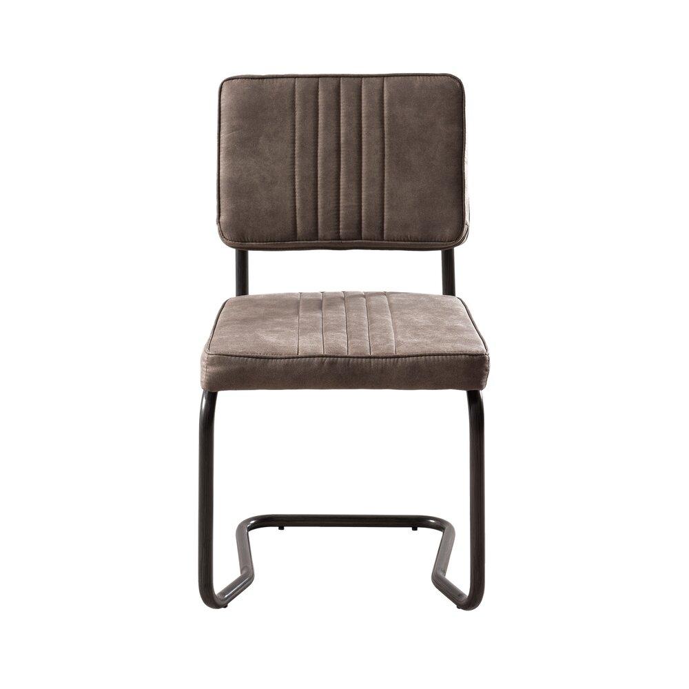 Chaise - Lot de 2 chaises en PU taupe photo 1