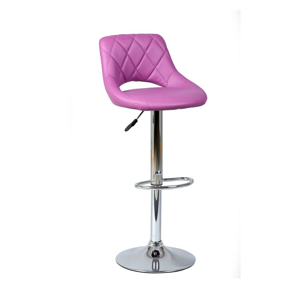 Tabouret de bar - Lot de 2 chaises de bar violet - PORTIO photo 1
