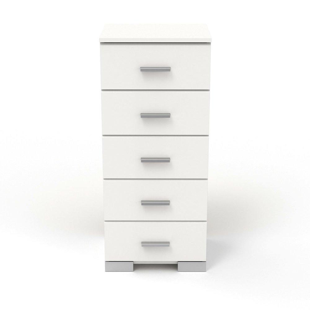 Chiffonnier - Chiffonnier 5 tiroirs blanc - HUGO photo 1