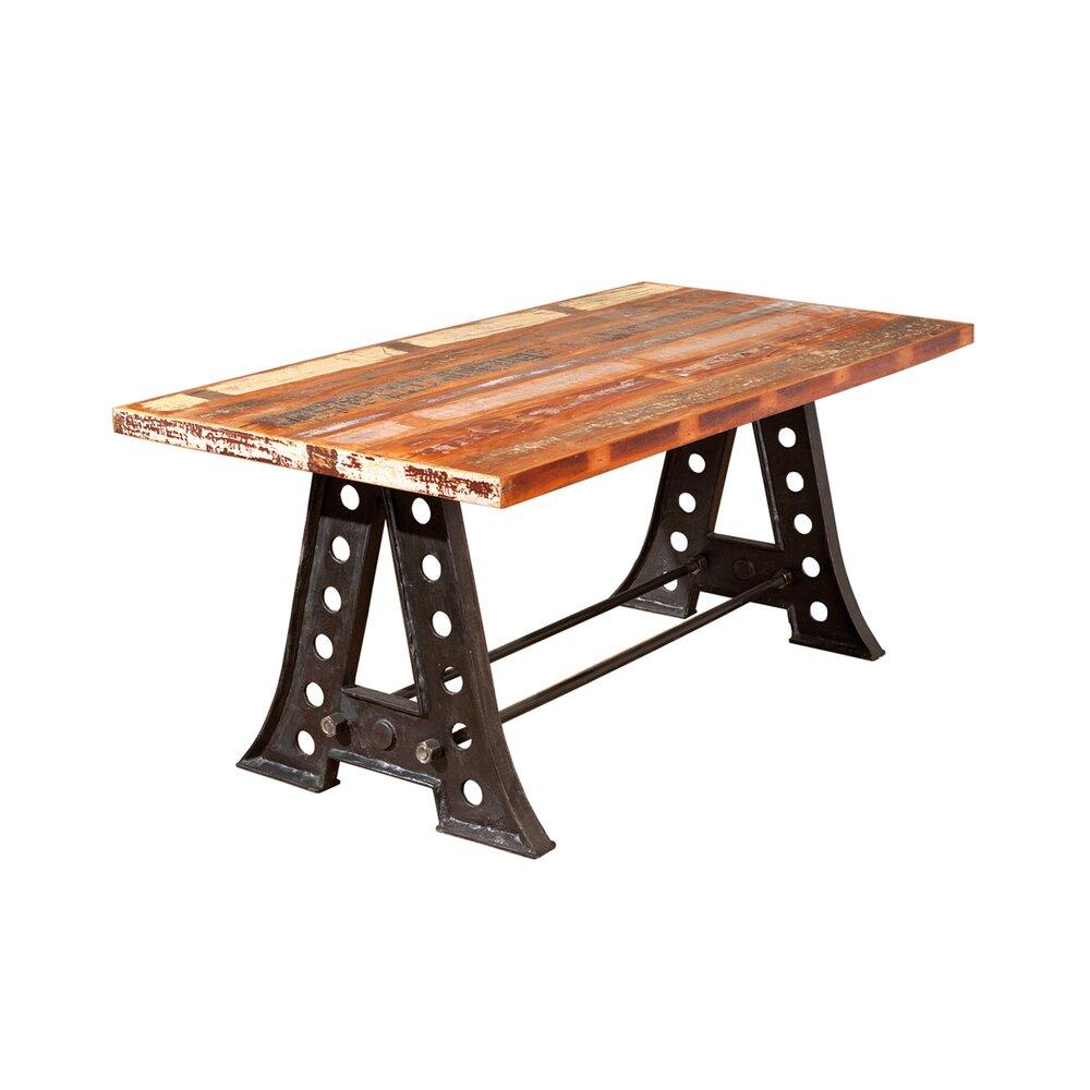 Table - Table à manger en manguier et métal - ATELIER METAL photo 1