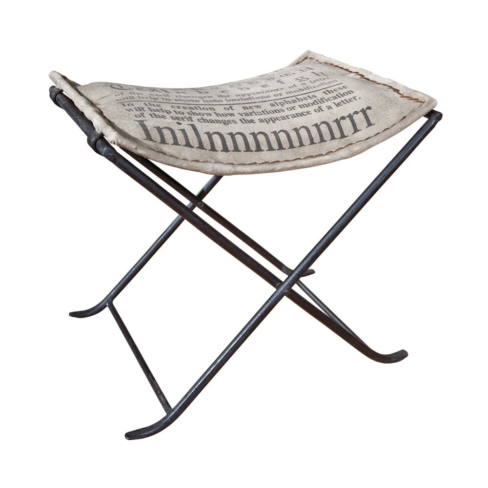 Chaise - Siège pliant en cuir et métal gris - RETRO photo 1