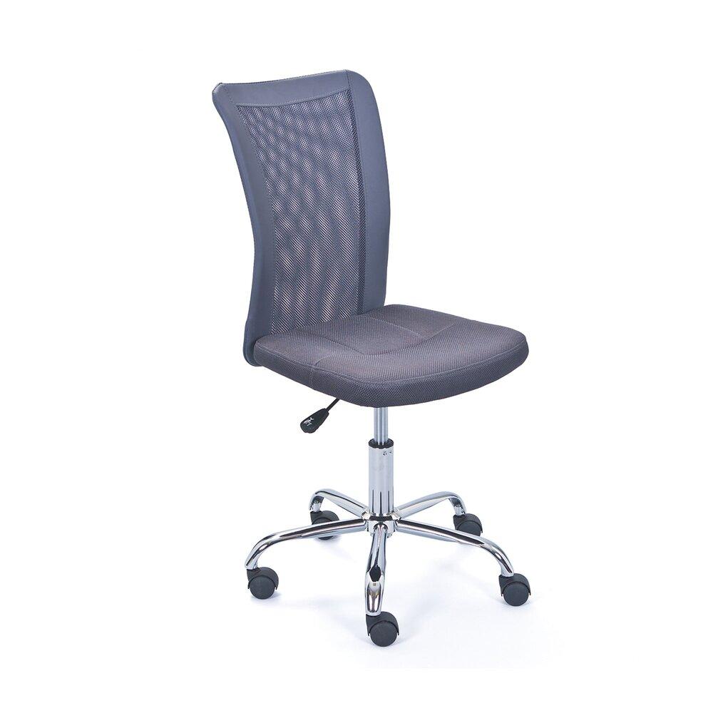 Fauteuil de bureau - Chaise de bureau enfant en PU gris - CHILD photo 1