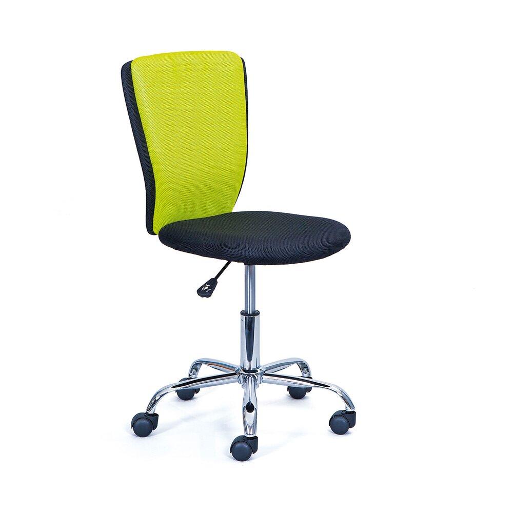 Fauteuil de bureau - Chaise de bureau pour enfant noir et vert - CHILD photo 1