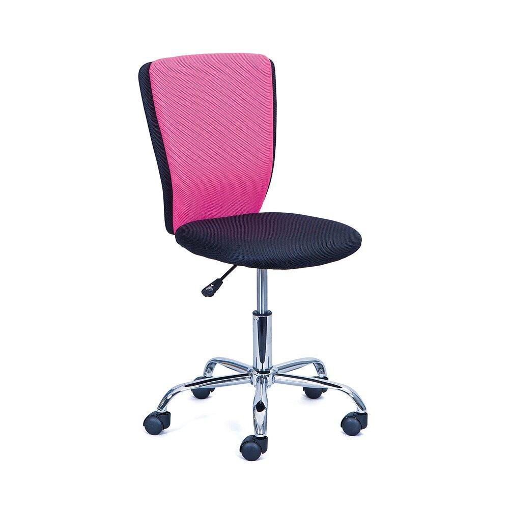 Fauteuil de bureau - Chaise de bureau pour enfant noir et rose - CHILD photo 1
