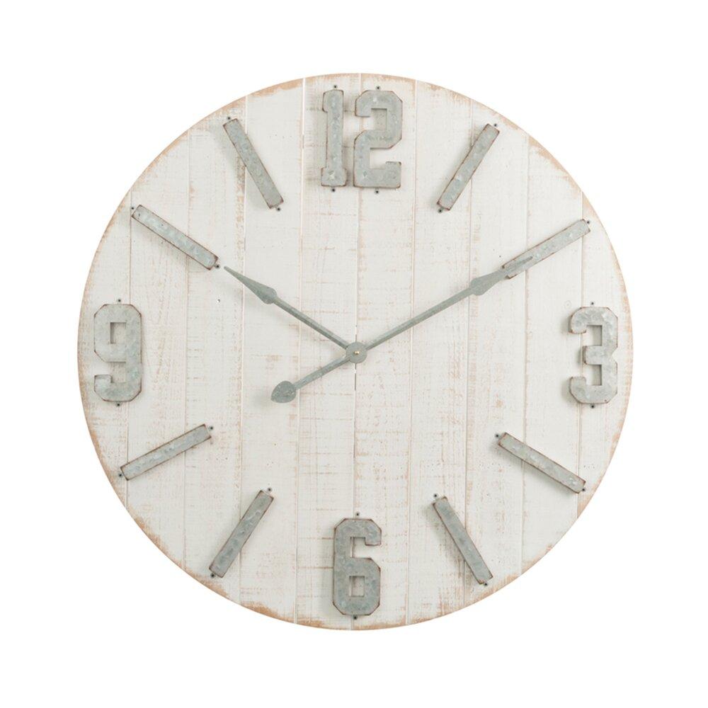 Horloge - Pendule - Horloge ronde 91,8 cm en bois blanc photo 1
