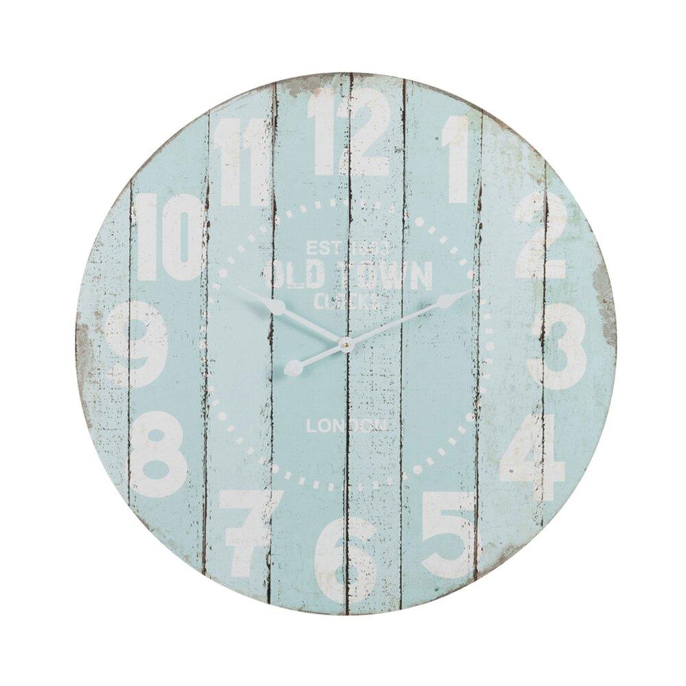 Horloge - Pendule - Horlonge ronde 80 cm en bois bleu photo 1