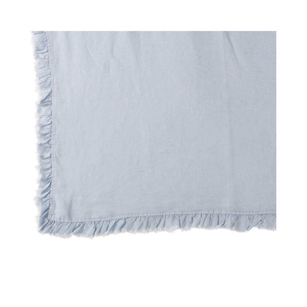 Couvre-lits et accessoires - Plaid 150x200 cm en lin bleu clair photo 1