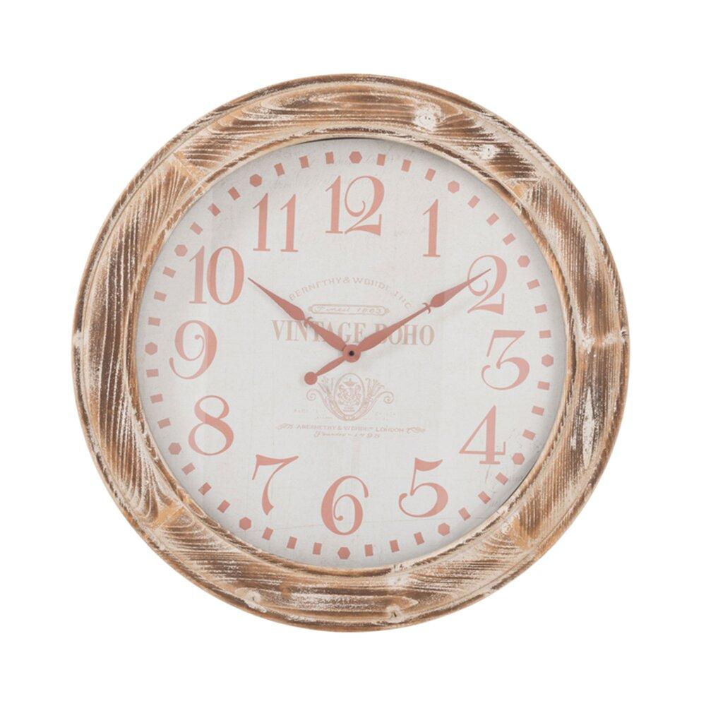 Horloge - Pendule - Horloge ronde 78 cm en bois ntaurel photo 1