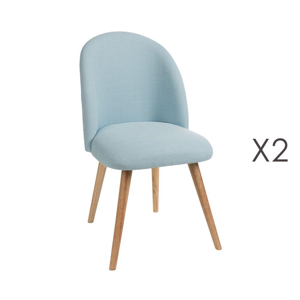 Chaise - Lot de 2 chaises en tissu bleu - SINTRA photo 1