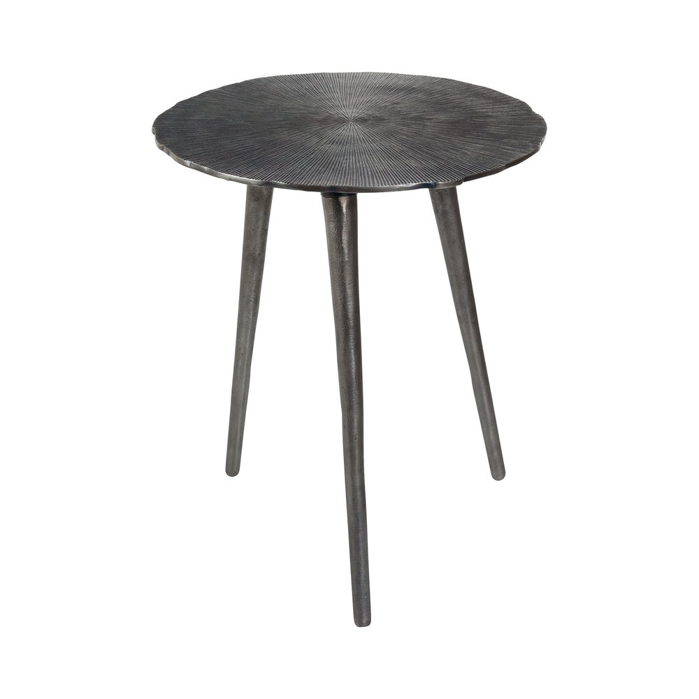 Table basse - Table d'appoint ronde 40 cm en métal vieilli photo 1