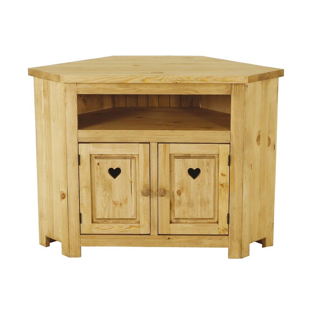 Meuble En Pin Ciré meuble tv d'angle en pin massif - terro | maison et styles