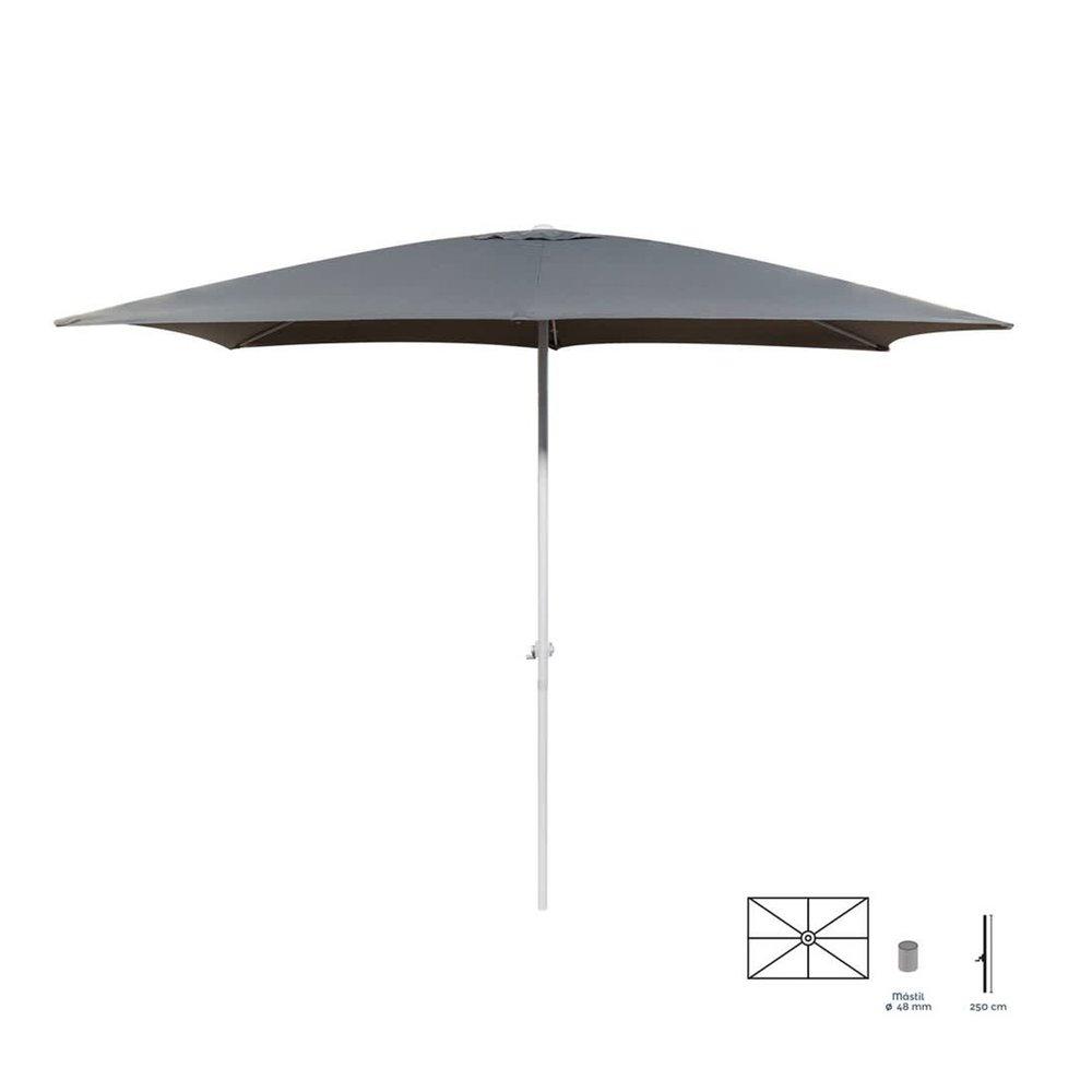 Parasol - Parasol 300x400 cm gris avec mât en aluminium photo 1