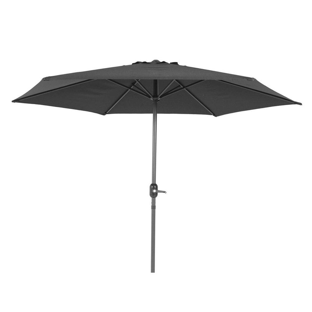 Parasol - Parasol diamètre 270 cm en aluminium gris foncé photo 1