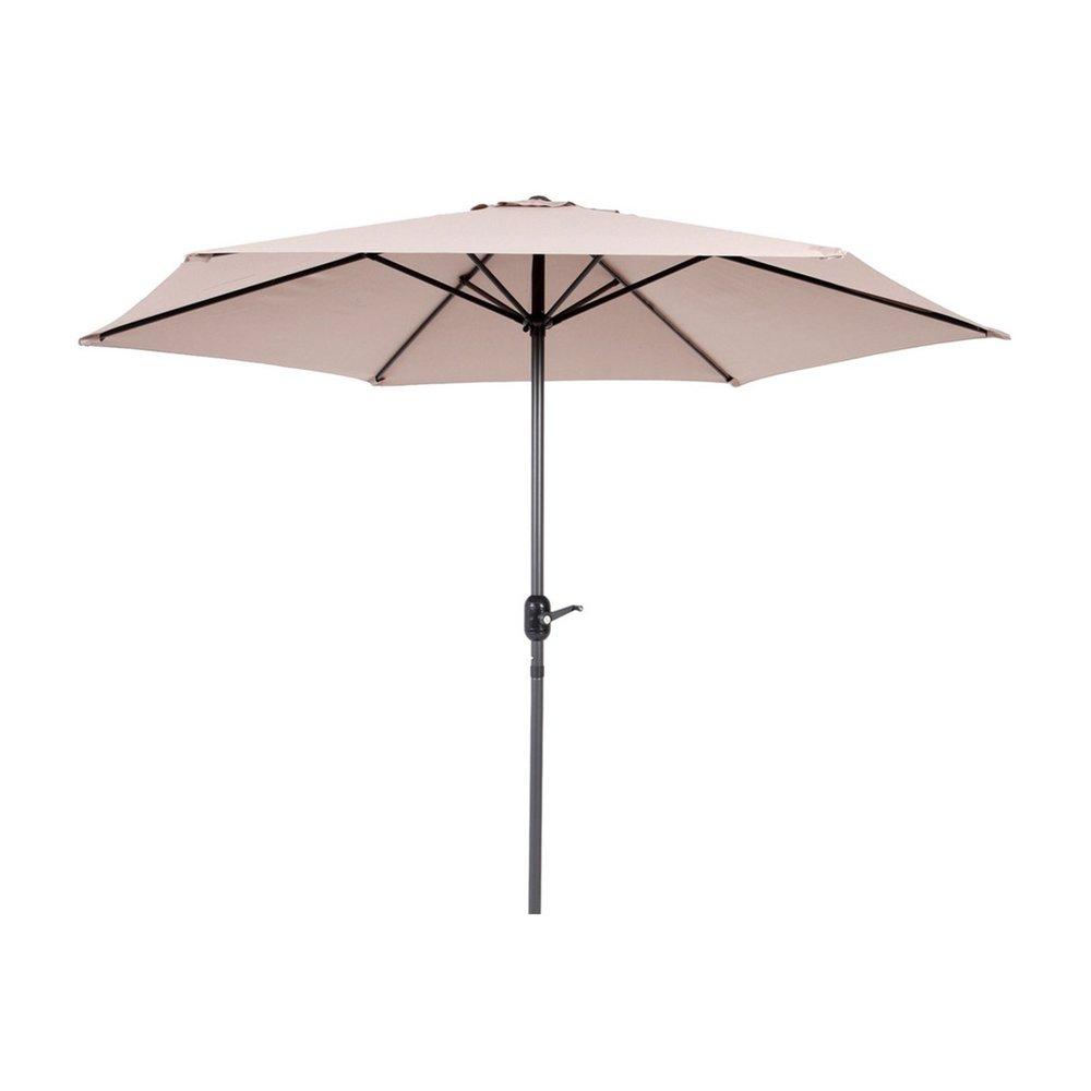 Parasol - Parasol 270 cm beige avec pied en aluminium photo 1