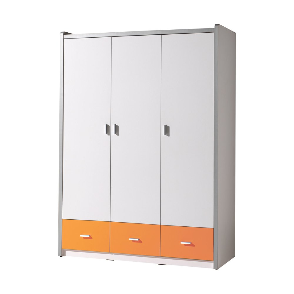 Armoire - Armoire 3 portes 140,5x60x202 cm orange - ASSIA photo 1