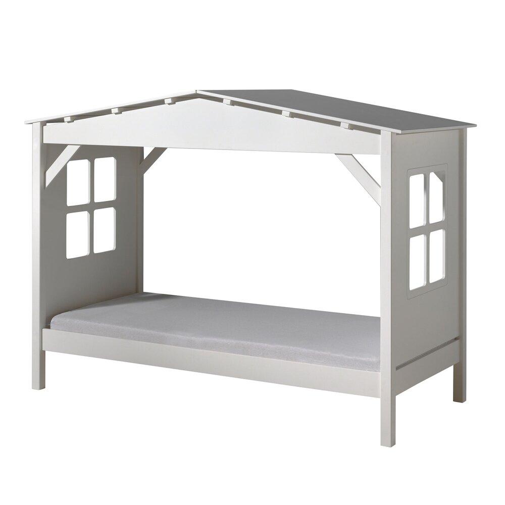 Lit enfant - Lit cabane 90x200 cm blanc - PINO photo 1