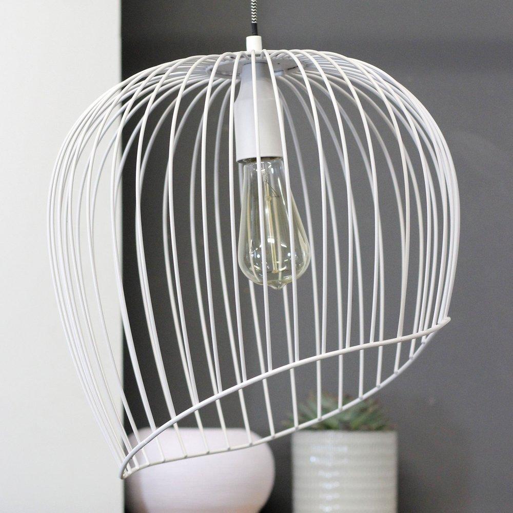 Luminaire - Suspension design ronde 37 cm en métal blanc photo 1