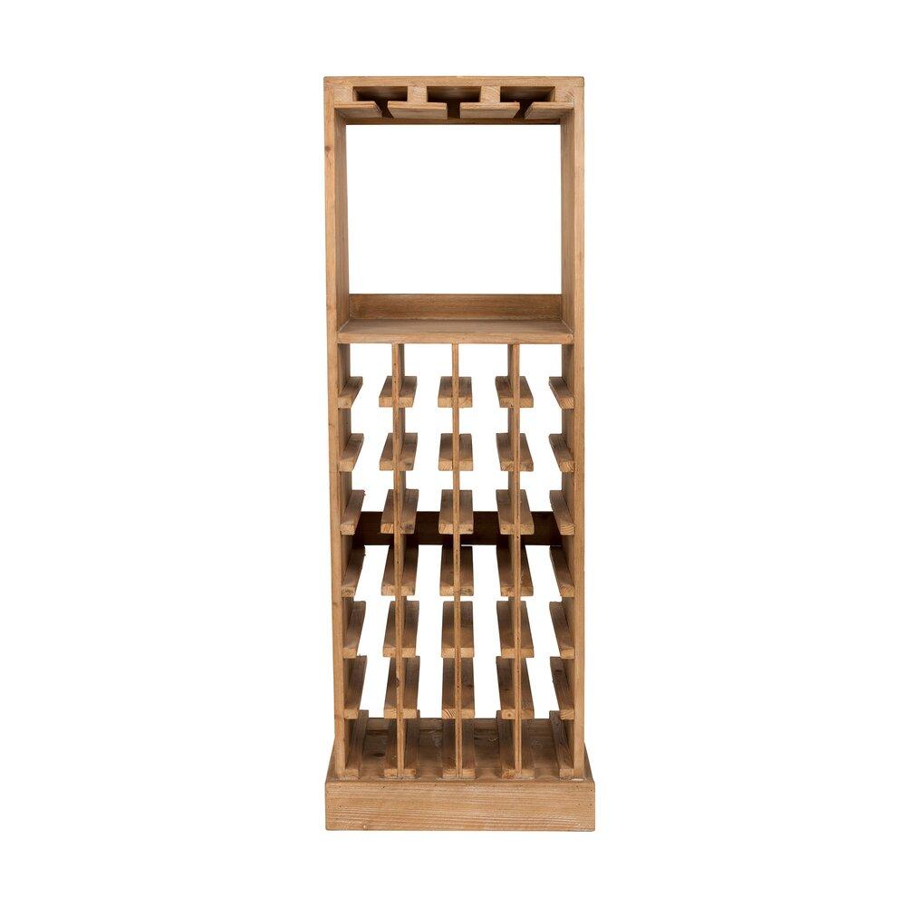 Bar - Meuble range-bouteilles 43,5x31,5x118,5 cm en sapin massif photo 1