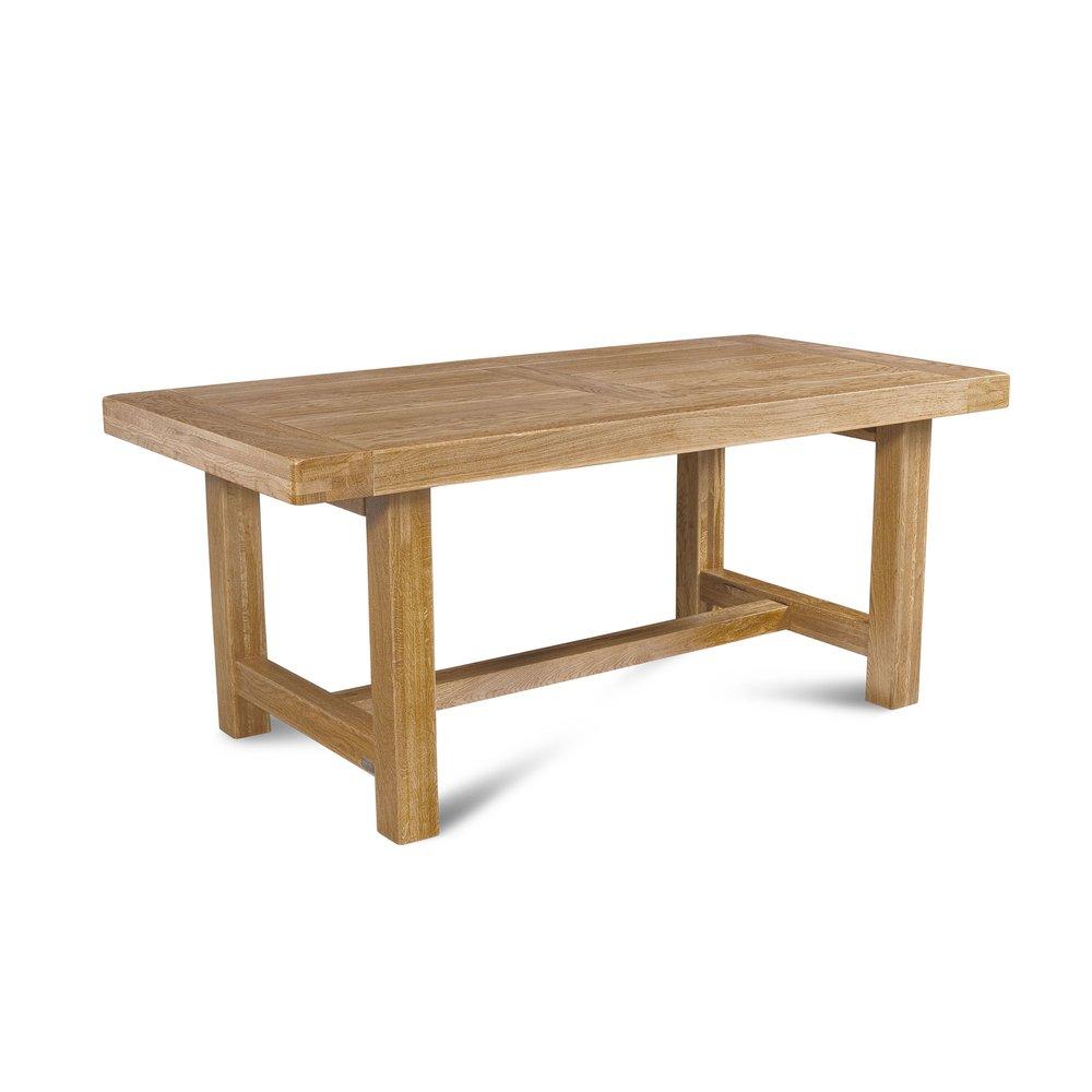 Table - Table de ferme, pieds carrés L: 1800 mm chêne clair photo 1