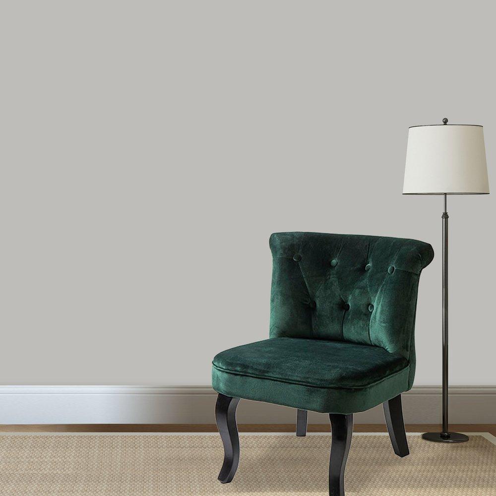 Lot de 2 fauteuils crapaud en velours vert TOADY